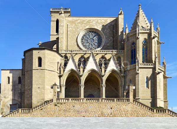 Collegiate Basilica of Santa Maria in Manresa, Spain Stock photo © nito