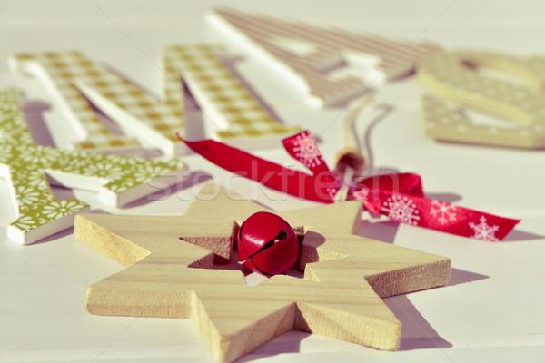 christmas star and text xmas, filtered Stock photo © nito