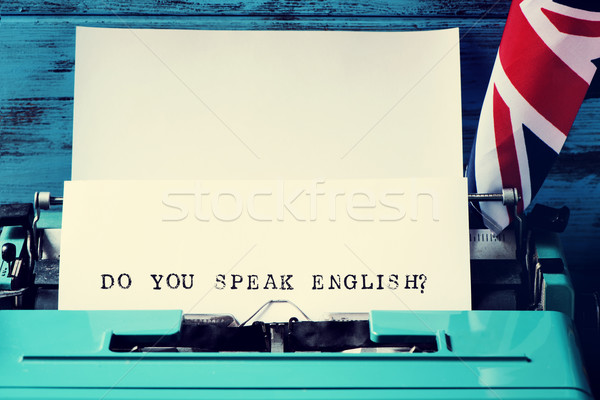 question do you speak english? written with a typewriter Stock photo © nito