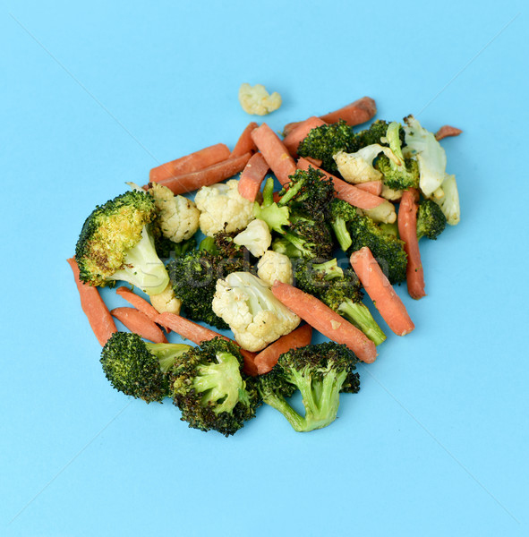 sauteed vegetables on a blue background Stock photo © nito