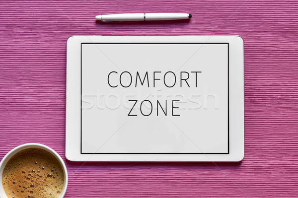 text comfort zone in a tablet computer Stock photo © nito