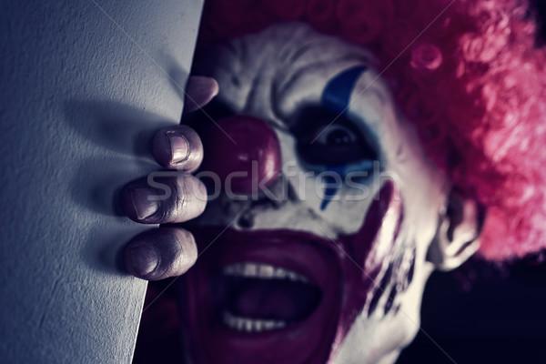 Scary zło clown Zdjęcia stock © nito