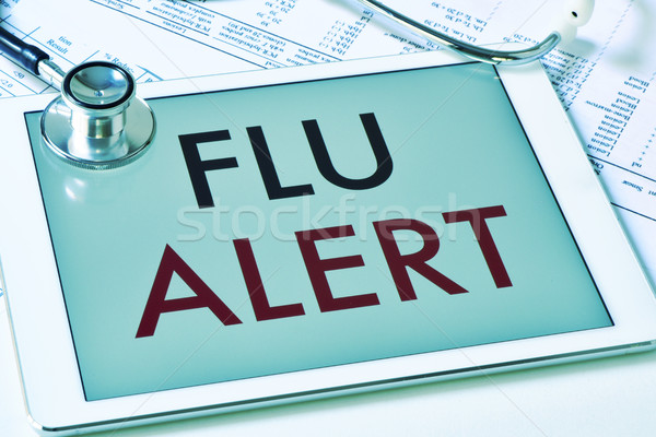 text flu alert in a tablet computer Stock photo © nito