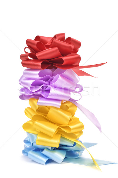 gift ribbon bows of different colors Stock photo © nito