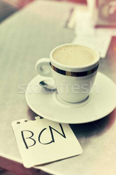 Café palavra nota copo escrito Foto stock © nito