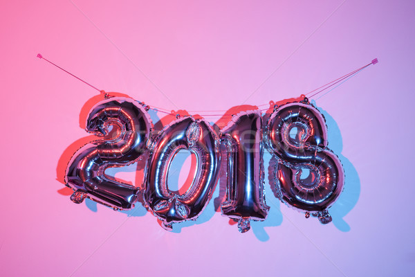 Stock photo: number 2018, as the new year