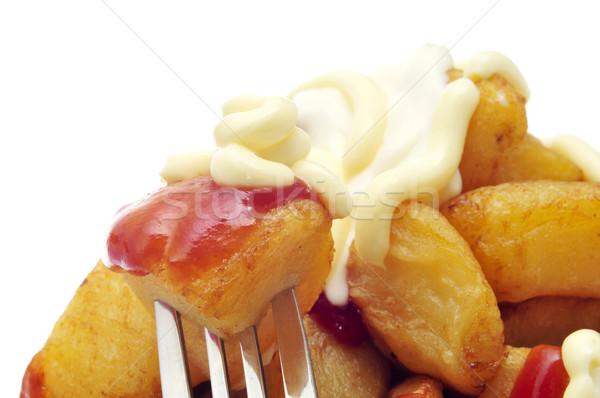 Stok fotoğraf: Tipik · İspanyolca · patates · sıcak · sos