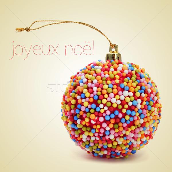 joyeux noel, merry christmas in french Stock photo © nito