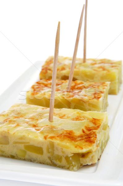Tortilla spaans aardappel typisch stukken Stockfoto © nito