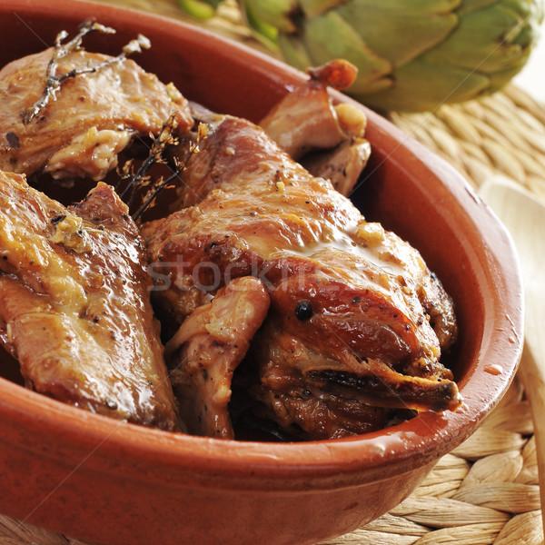 spanish roast rabbit Stock photo © nito