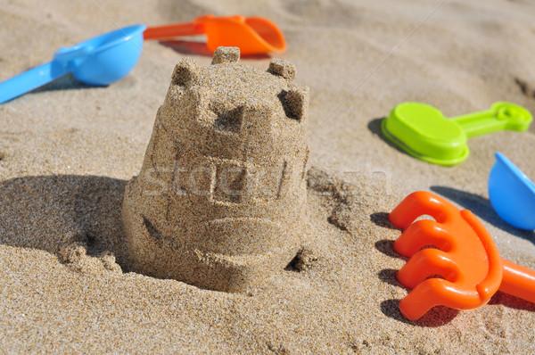 двухуровневый стробирующий импульс игрушку песок пляж морем Сток-фото © nito