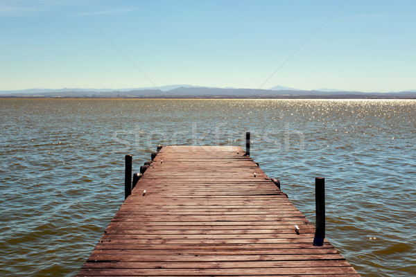 Stock photo: dock in the Albufera in Valencia, Spain
