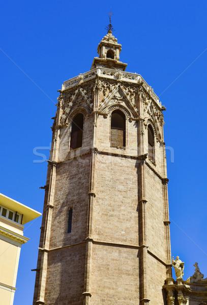 Bel toren kathedraal Valencia Spanje Stockfoto © nito
