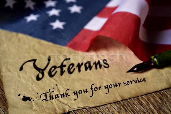 text veterans than you for your service Stock photo © nito