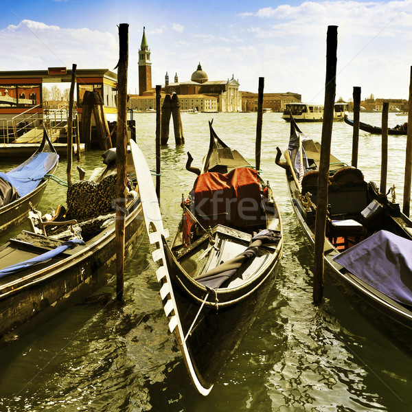 gondolas in Venice, Italy Stock photo © nito