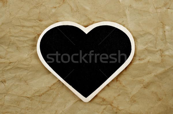 Frame oud papier papier liefde hart Stockfoto © nito