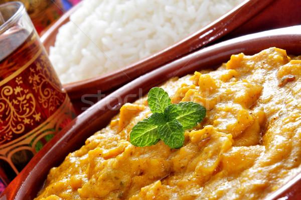 korma curry and basmati rice Stock photo © nito