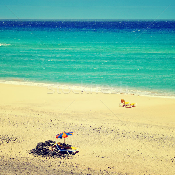 Mal Nombre Beach in Fuerteventura, Canary Islands, Spain, with a Stock photo © nito