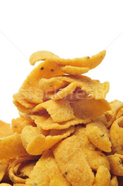 トウモロコシ チップ クローズアップ 食欲をそそる 白 ストックフォト © nito