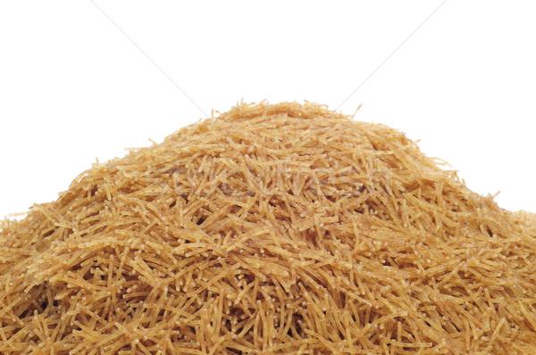Teljeskiőrlésű búza tészta közelkép köteg fehér egészség Stock fotó © nito