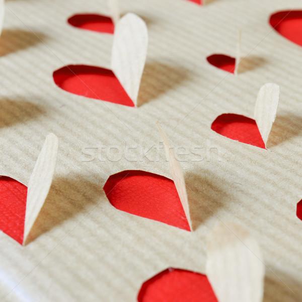 hearts on a kraft paper Stock photo © nito