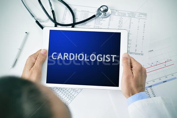 врач таблетка слово кардиолог человека Сток-фото © nito