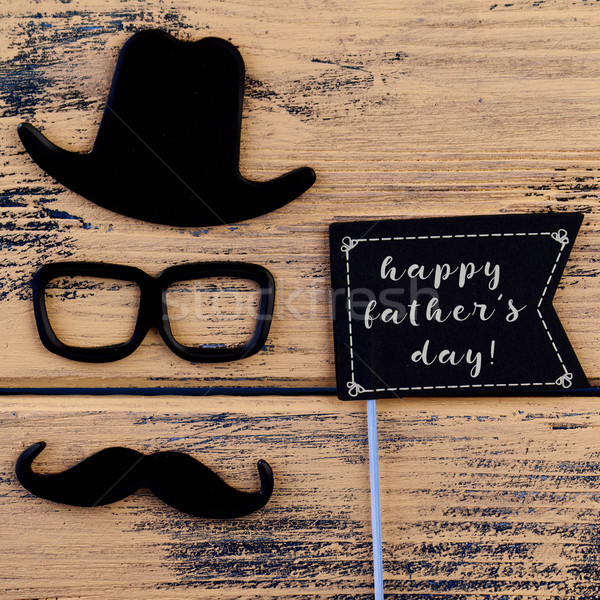 man face and text happy fathers day Stock photo © nito