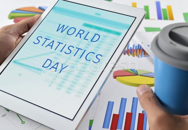 文字 世界 統計 日 タブレット クローズアップ ストックフォト © nito
