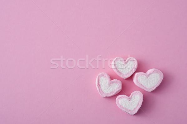 Roze witte negatieve ruimte achtergrond lifestyle Stockfoto © nito