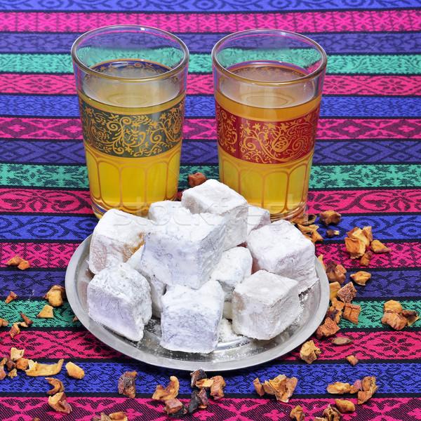 tea and turkish delight Stock photo © nito