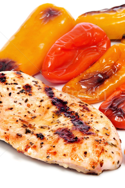Frango grelhado carne doce morder pimentas Foto stock © nito