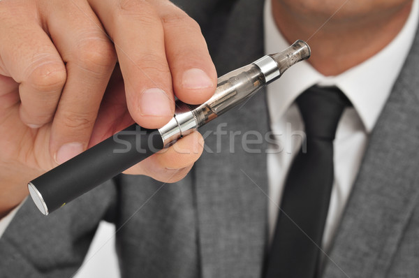 vaping with an electronic cigarette Stock photo © nito