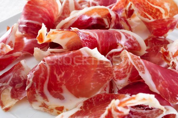 испанский Серрано пластина ветчиной мяса Сток-фото © nito