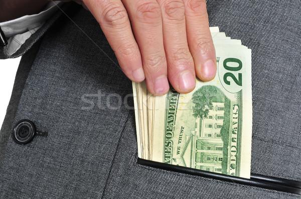 dollar bills in the pocket Stock photo © nito