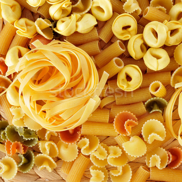 Stock photo: uncooked pasta