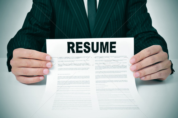 resume Stock photo © nito