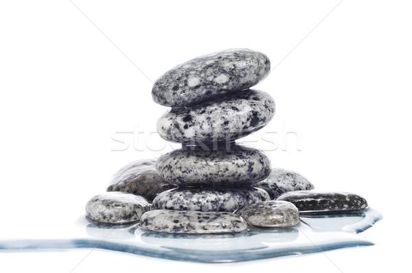 Stock photo: balanced zen stones