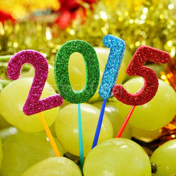 Uve numero 2015 capodanno numeri diverso Foto d'archivio © nito
