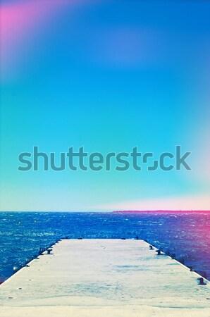 Dok akdeniz deniz ışık sızıntı etki Stok fotoğraf © nito