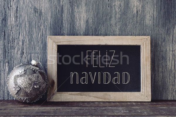 text feliz navidad, merry christmas in spanish Stock photo © nito