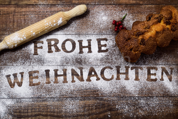 text frohe weihnachten, merry christmas in german Stock photo © nito