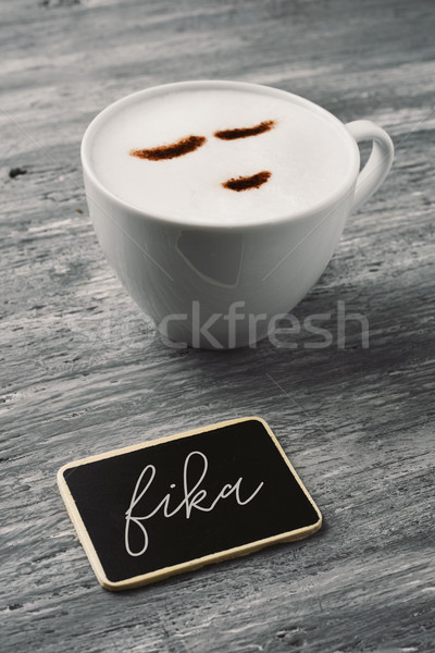 fika, danish word for have a coffee Stock photo © nito
