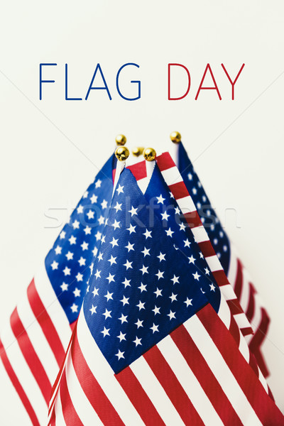 text flag day and american flag Stock photo © nito