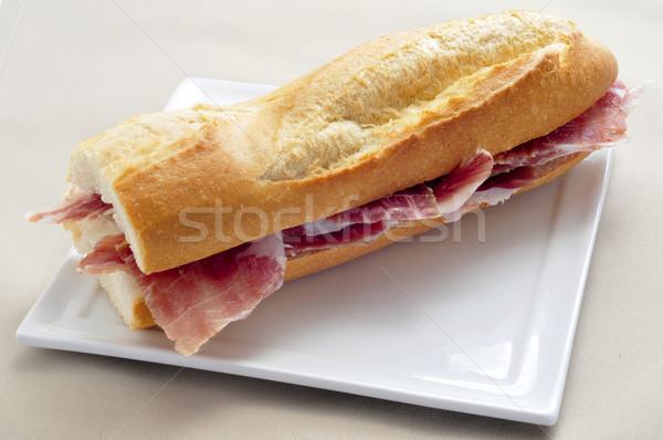 スペイン語 セラーノ ハム サンドイッチ クローズアップ 務め ストックフォト © nito