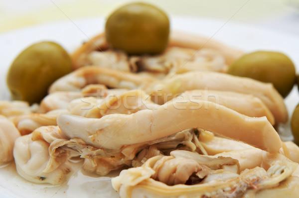 Espagnol servi apéritif plaque vinaigre paprika Photo stock © nito