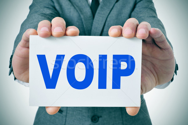 Voip stem internet protocol man Stockfoto © nito