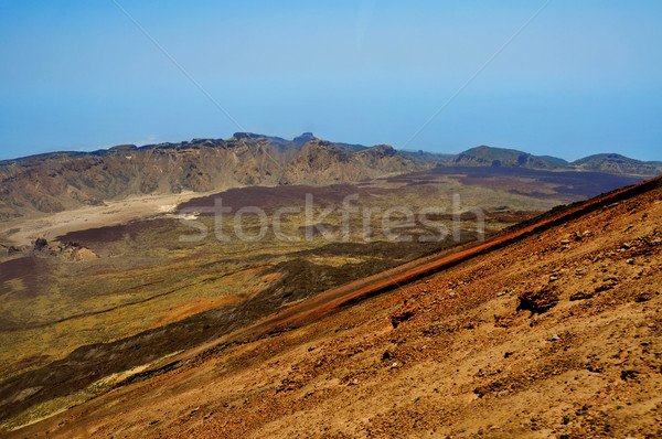 volcanic landscape in Teide National Park, Tenerife, Canary Isla Stock photo © nito