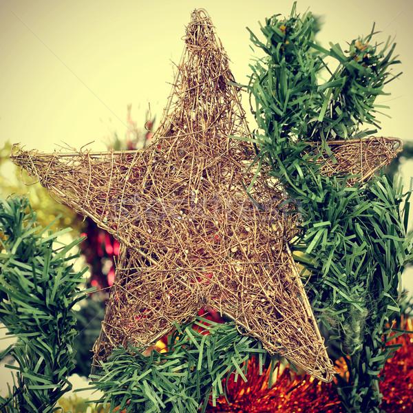 Star arbre de noël filtrer effet détail arbre Photo stock © nito