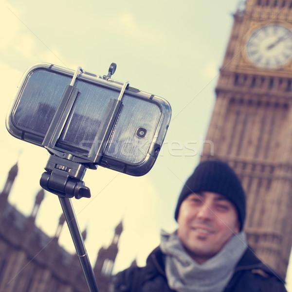 Homem Big Ben Londres vara Reino Unido Foto stock © nito