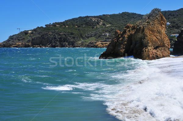 ビーチ スペイン 表示 水 海 旅行 ストックフォト © nito